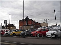 ST9272 : Vauxhall garage on The Causeway, Chippenham by David Howard