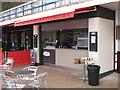 SX9265 : Takeaway food counter with Latititude/Longitude display by David Hawgood