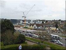 TR1457 : Construction site viewed from Dane John Mound by Steve  Fareham