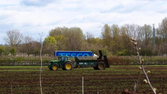 Muck Spreading by Michael Trolove