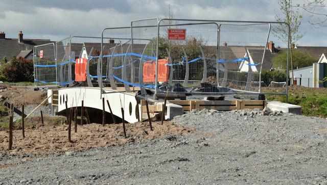 New footbridge, Knock River, Belfast - April 2016(1)