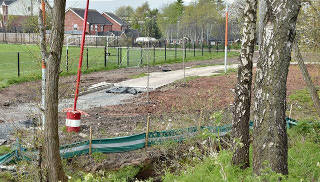New path, Knock River, Belfast (April 2016)