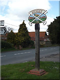 TM1551 : Henley Village sign by Geographer