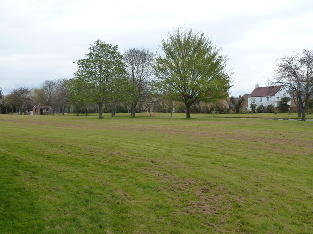 Grassed area outside the former barracks in Waterbeach