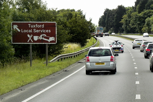 Southbound A1 near to Tuxford