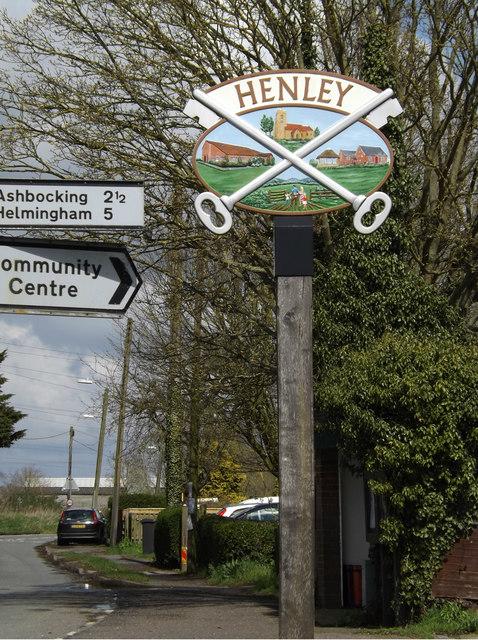 Henley Village sign