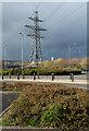 NZ2162 : Electricity transmission lines at Metro Centre by Trevor Littlewood