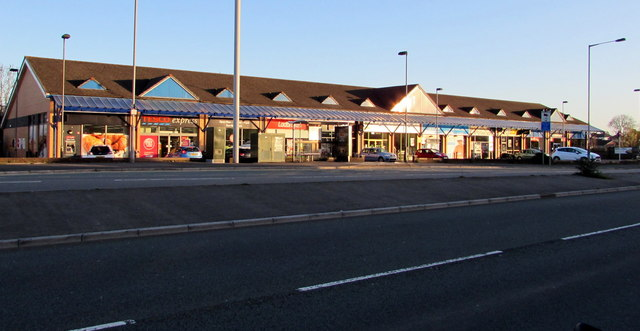 Early morning view of Malpas Road shops, Malpas, Newport