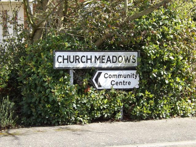 Church Meadows sign