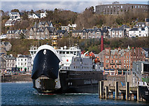 NM8529 : MV Clansman leaving Oban - April 2016 (1) by The Carlisle Kid