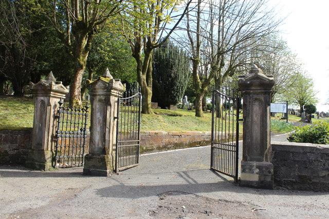 Entrance to Neilston Cemetery