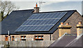 J4059 : Solar panels, Saintfield (April 2016) by Albert Bridge