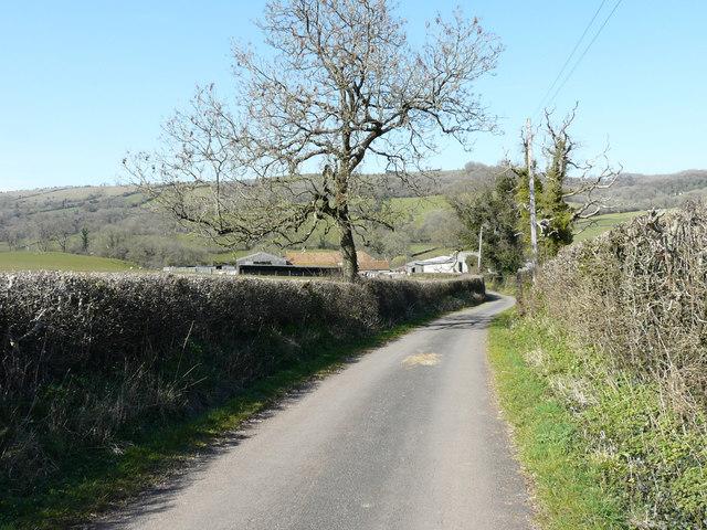 The lane approaching Model Farm