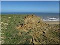 TG2739 : Cliff erosion near Trimingham by Hugh Venables
