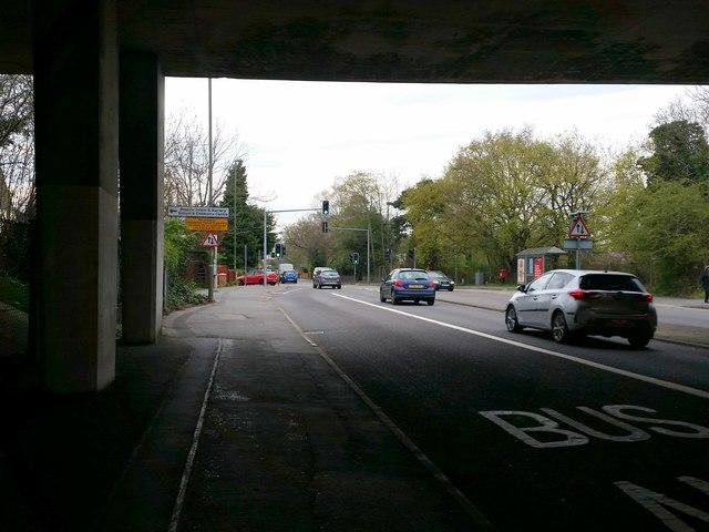 Frimley Road, under the M3 Bridge, Camberley