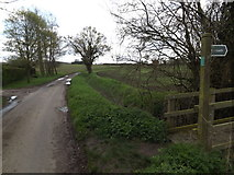 TM1453 : Bull's Road & footpath by Adrian Cable