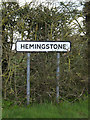 TM1452 : Hemingstone Village Name sign on Bull's Road by Adrian Cable