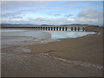 SD4578 : The bore approaches Arnside Viaduct by Karl and Ali