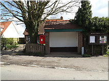 TM1551 : Bus Shelter & Post Office Ashbocking Road Postbox by Geographer