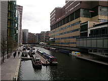 TQ2681 : Paddington Basin on a miserable April day by Roger Davies