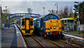 NC9004 : Trains crossing at Brora by Peter Moore