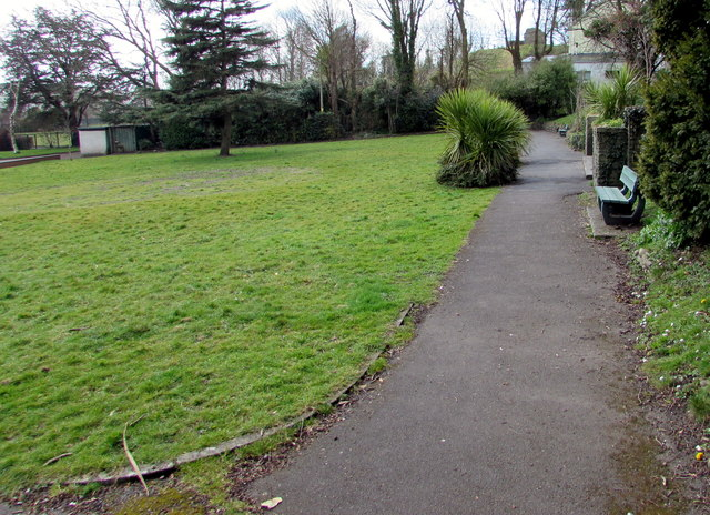 Bench in Parc Williams, Loughor