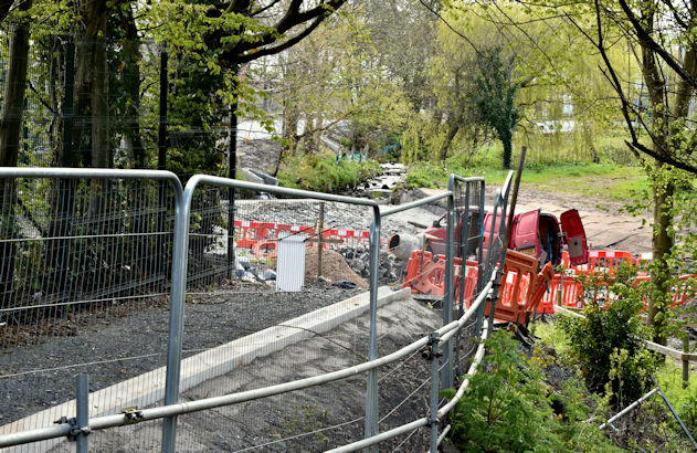 Connswater path works, Belfast - April 2016(3)