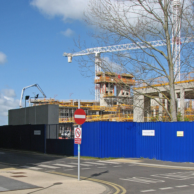 The new Papworth Hospital taking shape