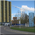 TL4654 : Car park and cranes on the Cambridge Biomedical Campus by John Sutton