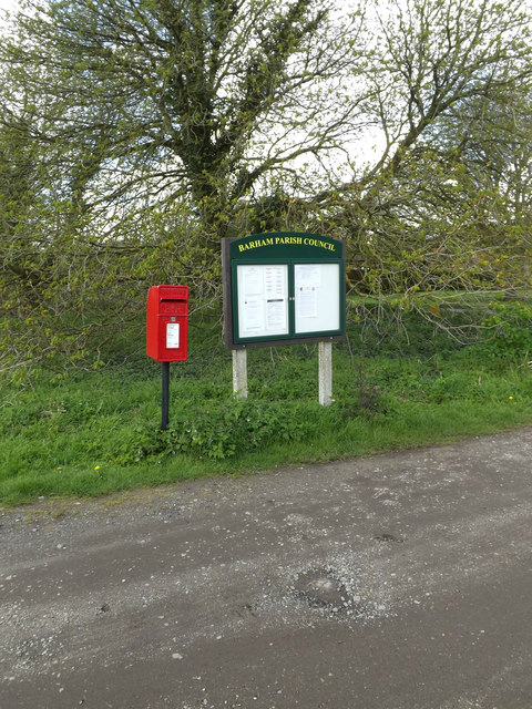 The Croft The Green Postbox & Village Notice Board