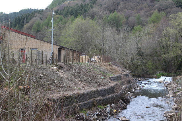 River Ebbw, Aberbeeg