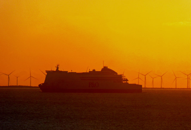 The early morning P&O ferry bound for Hull