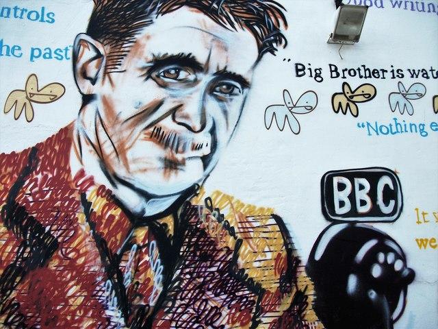 George Orwell mural
