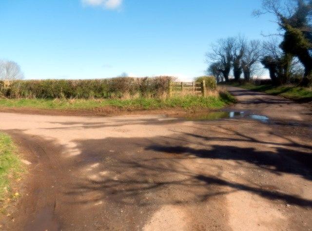 Junction south of Kirkhill in Mordington