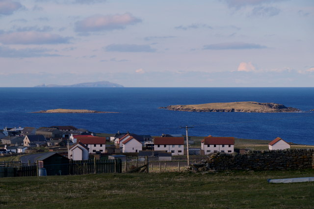 Toab and Lady's Holm from Exnaboe