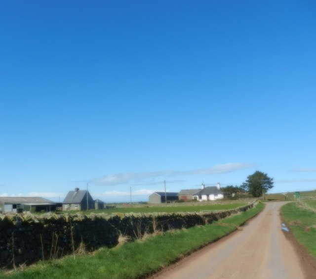 Approaching the junction at Campfield Farm