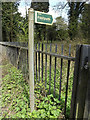 TM1252 : Footpath sign off Norwich Road by Adrian Cable