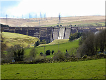 SE0118 : Ryburn Valley, Baitings Reservoir Dam by David Dixon