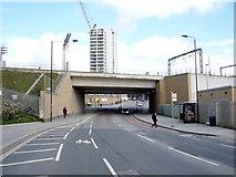 TQ3084 : Railway bridge over York Way by JThomas
