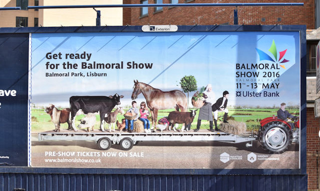 Balmoral Show poster, Belfast (April 2016)
