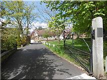 TQ1289 : The entrance to Church Farm by Marathon