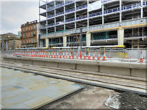 SJ8397 : Construction of New Metrolink Stop at St Peter's Square, April 2016 by David Dixon