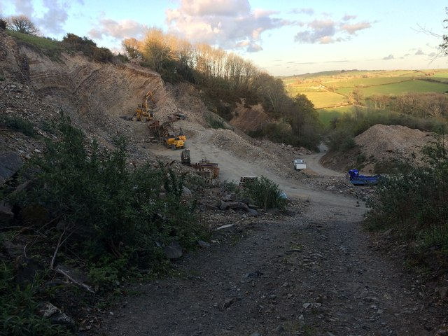 Quarry Between Hannaford and Cobbaton