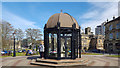 SE2955 : Cupola opposite Town Hall, Harrogate, Yorkshire by Christine Matthews