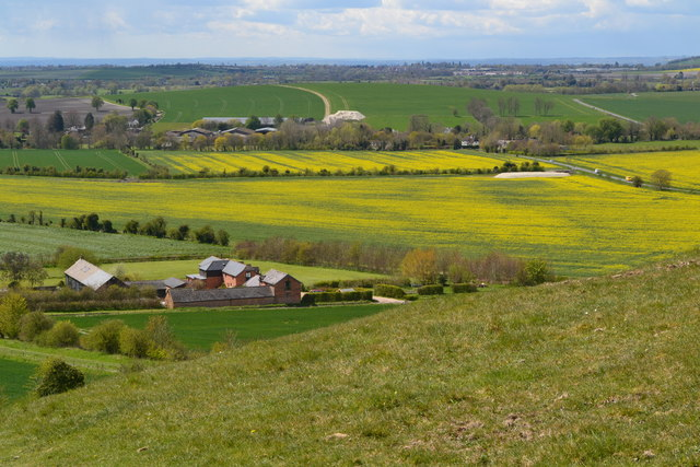 View above Cannings Cross Farm