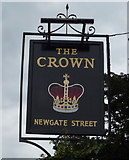 TL3005 : Sign for the Crown public house, Newgate Street by JThomas