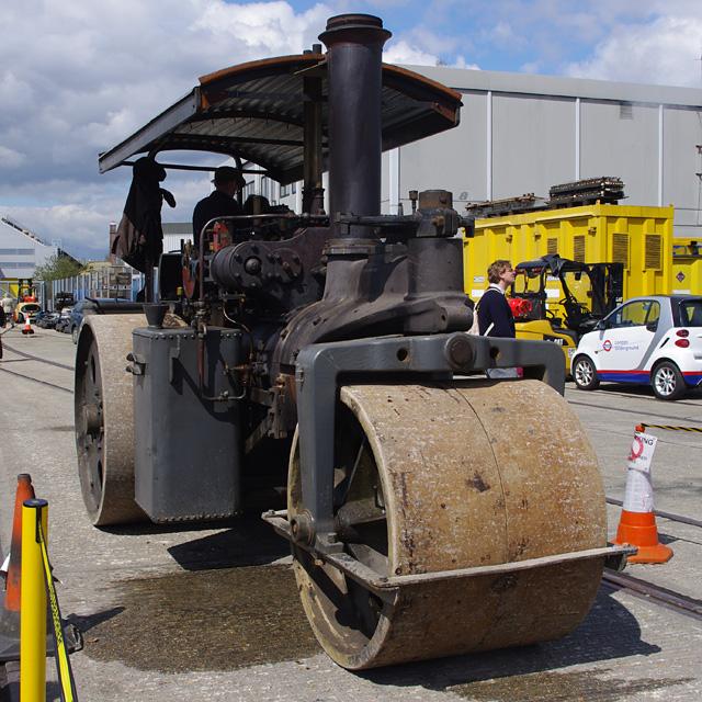 Steam roller at London Transport Museum Depot