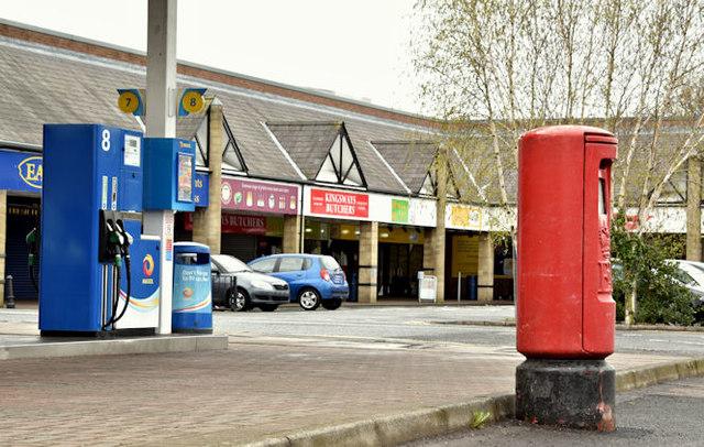 Pillar box BT17 142, Dunmurry (May 2016)