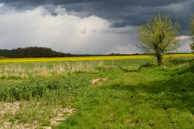Sunshine and showers near Clifford's Hill