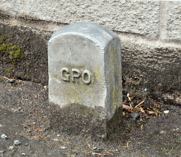 GPO cable marker post, Finaghy, Belfast (May 2016)